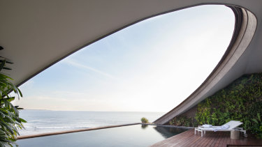 A rather private rooftop pool in one of Como Uma Canggu's penthouses in Bali.