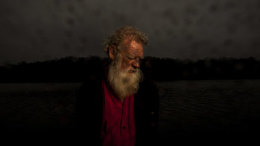 Bruce Pascoe at his property in Gipsy Point last week.