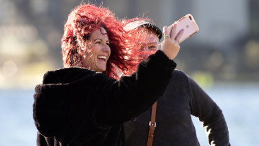 Gusty winds hit Sydney on Saturday.