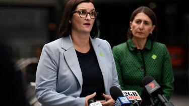 NSW Education Minister Sarah Mitchell with Premier Gladys Berejiklian.
