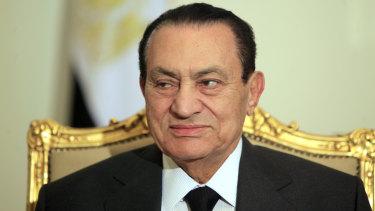 Former Egyptian president Hosni Mubarak.