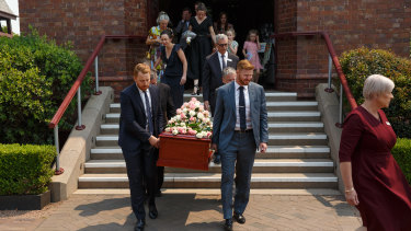 Family and friends farewell four-year-old Josephine 'Josie' Dun at Newcastle's Christ Church Cathedral.
