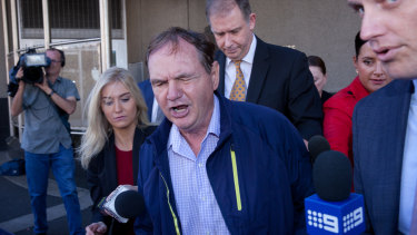 Paul Pisasale leaving court in 2017.