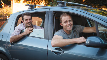 Car Next Door co-founders Will Davies and David Trumbull.