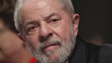 Former Brazilian president Luiz Inacio Lula da Silva.