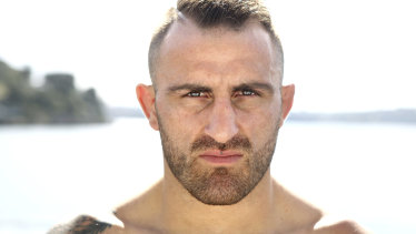Eyes on the prize: Alex Volkanovski wants to fight in Australia after defeating Jose Aldo in Brazil.