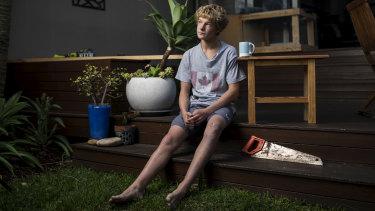 Banjo Studholme, 16, is facing a tough job market to get an apprenticeship.