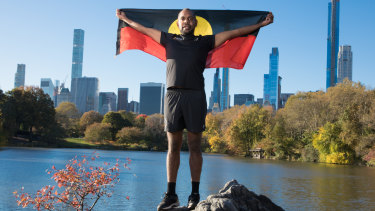 Jordan Armstrong is running in the New York City marathon, where his uncle, Charlie Maher, was the first Indigenous Australian to cross the finish line.