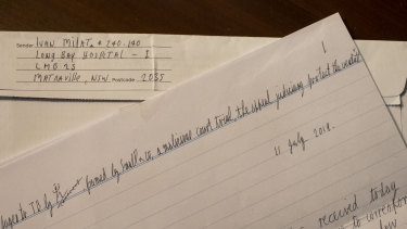 A letter from serial killer Ivan Milat, claiming he was framed.