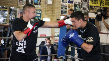 Tim Tszyu (right) has beaten many of his father's gym records.