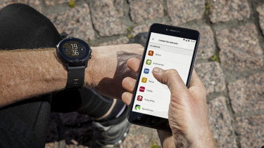 The watch runs WatchOS by Google, but works with Androids or iPhones.