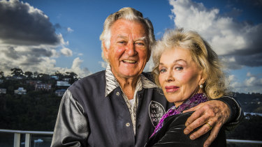 Blanche D'Alpuget and Bob Hawke together in 2013.