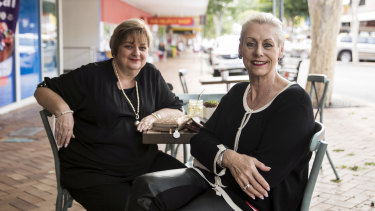 Annette Geurts and Ina Wagner, right, understand why One Nation is popular in their town of Gympie.