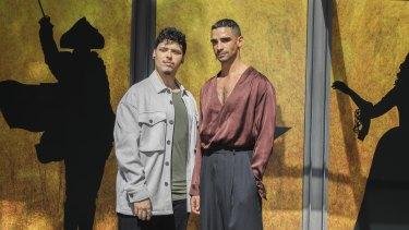 Jason Arrow who plays Alexander Hamilton, and Lyndon Watts who plays Aaron Burr.