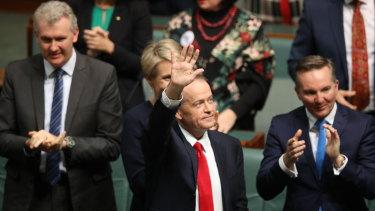 Opposition Leader Bill Shorten after his budget reply speech on Thursday night.