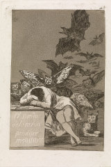 The Sleep of Reason Produces Monsters, 1797-98, by Francisco Goya.