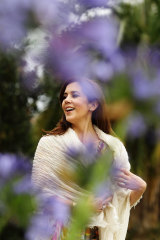 Princess Mary of Denmark walks the gardens of Government House during her visit to Australia in 2011.