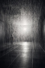 Both the sound of falling rain and the sight of it creates a memorable sensation.