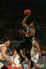 High flyer: United's Casper Ware lines up a lay-up.