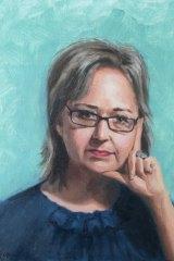 Portrait of journalist Kerrie O'Brien by Fiona O'Byrne.