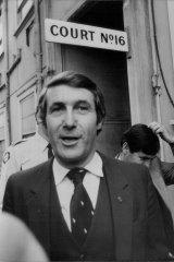 Harry M. Miller outside court in 1981.