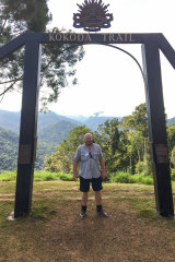 Peter Moody on the Kokoda Trail in Papua New Guinea.