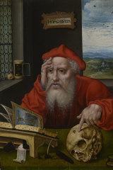 Saint Jerome, Joos van Cleve (manner of), 1530-1540s (detail).