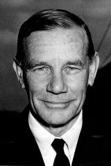 Chairman of the Australian Broadcasting Commission, Richard Boyer, in 1957
