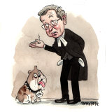 ICAC chief commissioner Peter Hall. Illustration: John Shakespeare