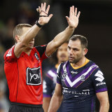 Cameron Smith was sent to the sin bin on Saturday night.