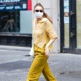 Model Gigi Hadid wearing crochet in New York last week.