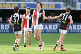 Max King led the way for the Saints with six goals but it was not enough.