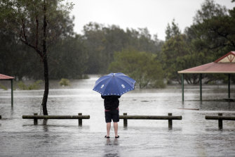 The NSW floods, pictured, have led to thousands of insurance claims and more are expected.