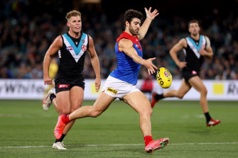 Christian Petracca proved a handful for the Power.