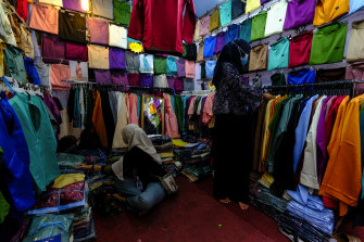 Shops were open in Malaysia during Ramadan but restrictions were ramped up at the end of the month.