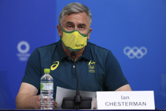 The AOC's chef de mission Ian Chesterman said no action will be taken against the athletes as they have already apologised.