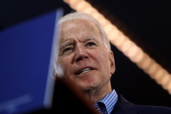 Former US vice-president Joe Biden, speaking late on Saturday at a rally in Las Vegas, Nevada, has kept his chances alive with a second-place finish.