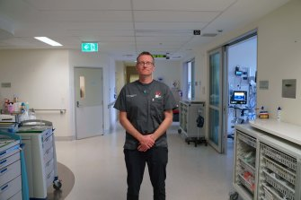 The Alfred's director of intensive care Steve McGloughlin.