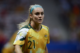 Ruled out: Ellie Carpenter will not join her Matildas teammates.