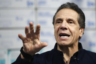 New York Governor Andrew Cuomo has been targeted on US President Donald Trump's Twitter feed.