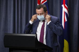 WA Premier Mark McGowan speaks to the media about the latest lockdown.