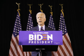 Joe Biden is backing a plan by Democrats to pursue the impeachment of President Donald Trump.
