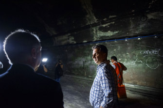 Transport Minister Andrew Constance announced plans to transform the abandoned tunnels almost two years ago.