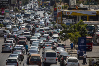Lebanon's roads are choked with cars waiting all day for scarce fuel.