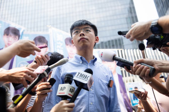 Joshua Wong, a co-founder of the pro-democracy Demosisto political party, announced his intention to contest District Council elections.