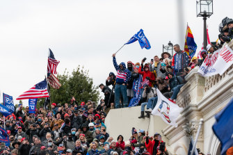 """Some of the rioters swarming the Capitol chanted """"hang Mike Pence""""."""