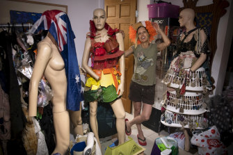 Marina DeBris, inside her home studio.