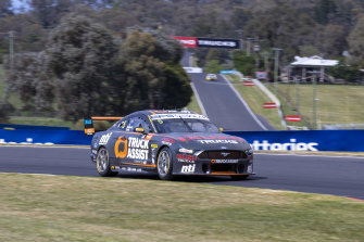 Lee Holdsworth charges during qualifying for the Bathurst 1000 on Friday.