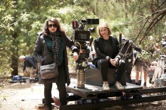 Julie Eckersley (right) with fellow Glitch producer Louise Fox.