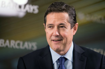 Financial regulators are probing links between Barclays chief Jes Staley, pictured, and Jeffrey Epstein.